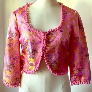 Anthropologie | elevenses floral bolero jacket